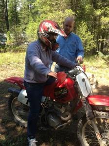 karalee on motorbike