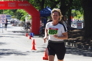 Karalee's triathlon in June 2013