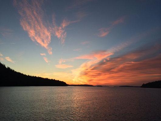 Dawn of 2014, Fulford Harbour, Saltspring Island