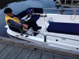 Reading J.Le Carre at Genoa Bay