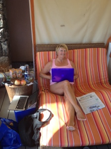 Writing outdoors!