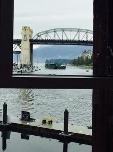 tugboat and bridge